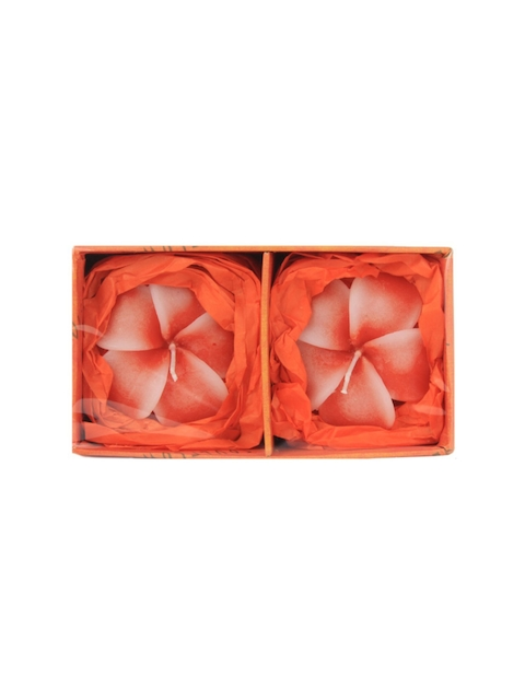Soulflower Lemongrass Aroma Pack of 2 Hibiscus Shape Medium Floating Candles