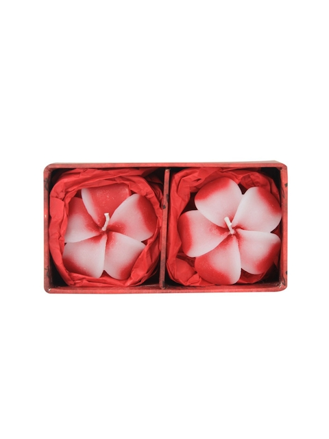 Soulflower Rose Aroma Pack of 2 Hibiscus Shape Medium Floating Candle