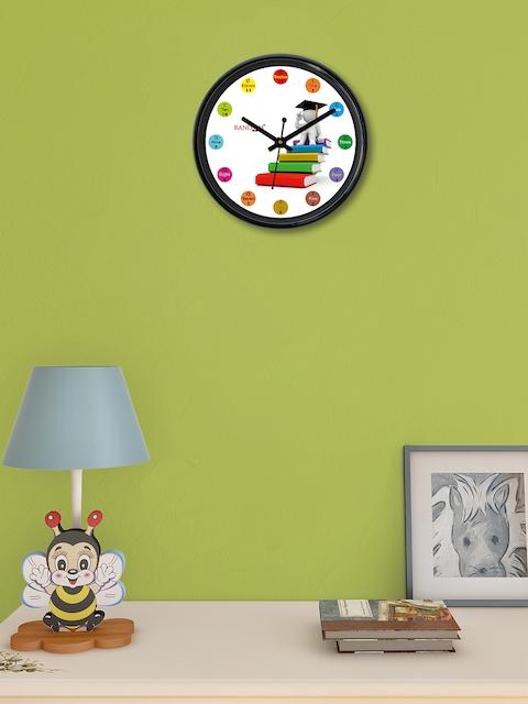 RANDOM White Round Printed Analogue Wall Clock