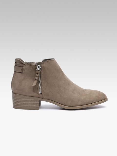 DOROTHY PERKINS Women Brown Solid Heeled Boots