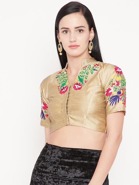 KAANCHIE NANGGIA Beige Embroidered Saree Blouse