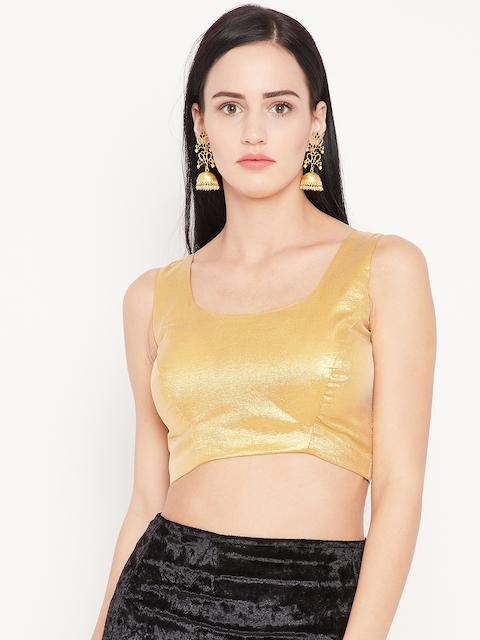 KAANCHIE NANGGIA Golden Solid Saree Blouse