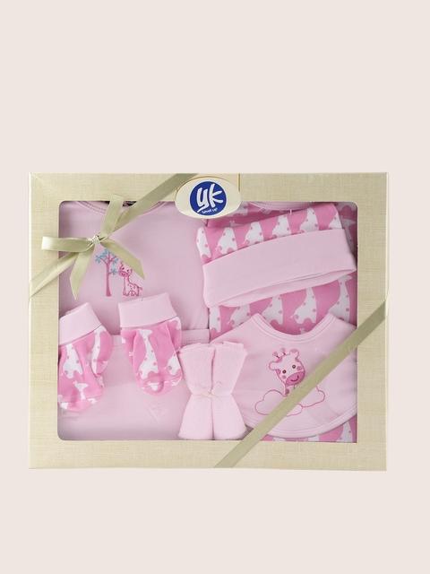 YK Pink 8 Pcs Baby Gift Set