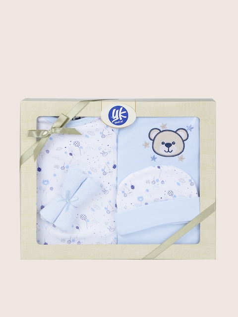 YK Kids Blue 5 Pcs Baby Gift Set
