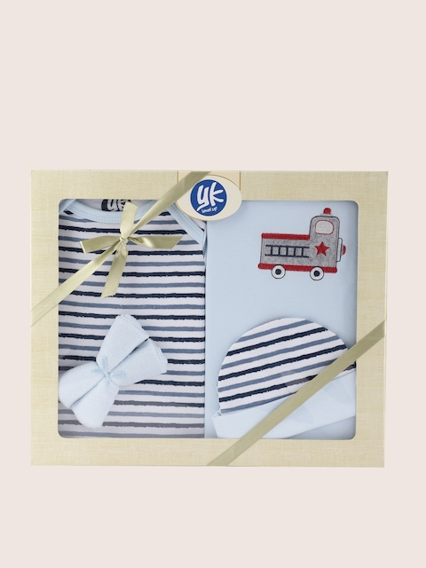 YK Blue 5 Pcs Baby Gift Set