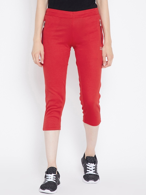Camey Women Red Slim Fit Track Pants