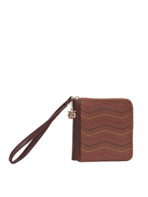 Chumbak Women Brown Textured Two Fold Wallet