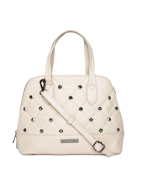 Caprese Beige Embellished Handheld Bag