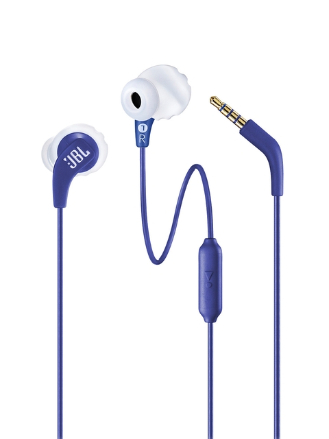JBL Unisex Blue Endurance Run Wired Sports Headphones