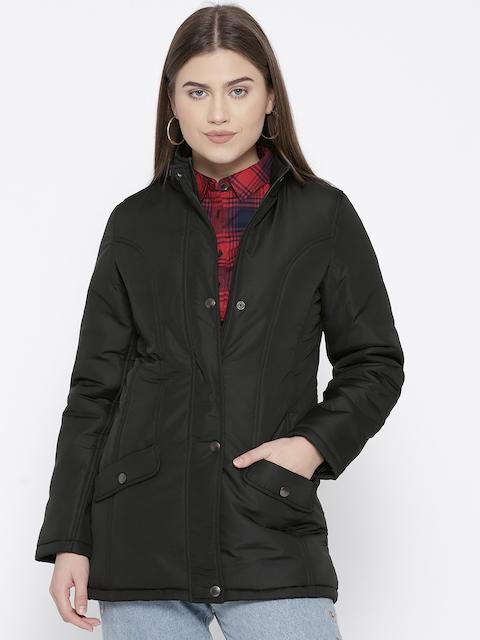 Trufit Women Black Solid Insulator Longline Padded Jacket