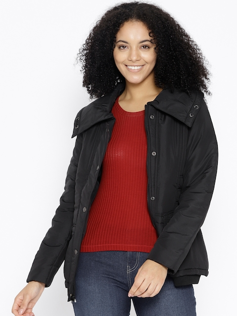 Trufit Women Black Solid Insulator Tailored Jacket