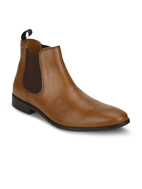Red Tape Men Tan Brown Formal Leather Boots