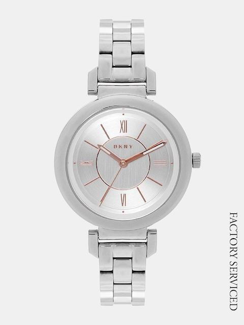 DKNY Women Silver-Toned Factory Serviced Analogue Watch NY2582I