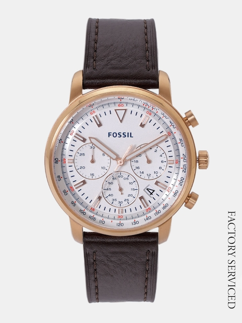 Fossil Men Off-White Factory Serviced Analogue Watch FS5415