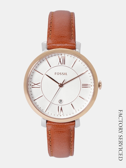 Fossil Women Off-White Factory Serviced Analogue Watch ES3797
