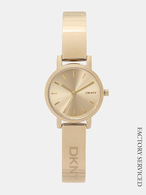 DKNY Women Gold-Toned Factory Serviced Analogue Watch NY2307I