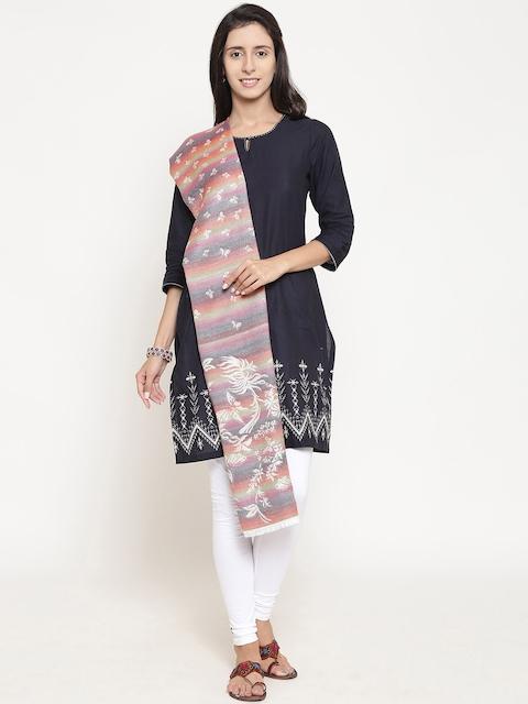 WEAVERS VILLA Women Multicoloured Woven Design Stole