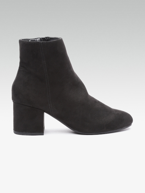 DOROTHY PERKINS Women Black Heeled Boots