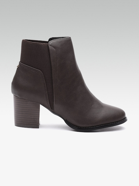 DOROTHY PERKINS Women Coffee Brown Solid Heeled Boots