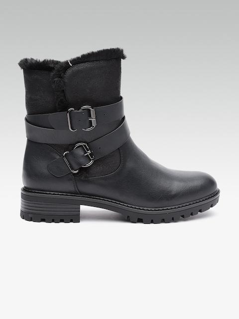 DOROTHY PERKINS Women Navy Heeled Boots