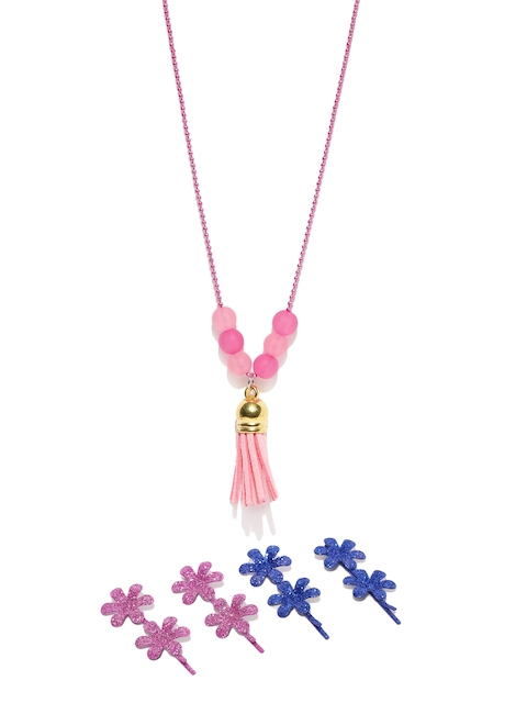 lil star Girls Multicoloured Accessory set & Necklace