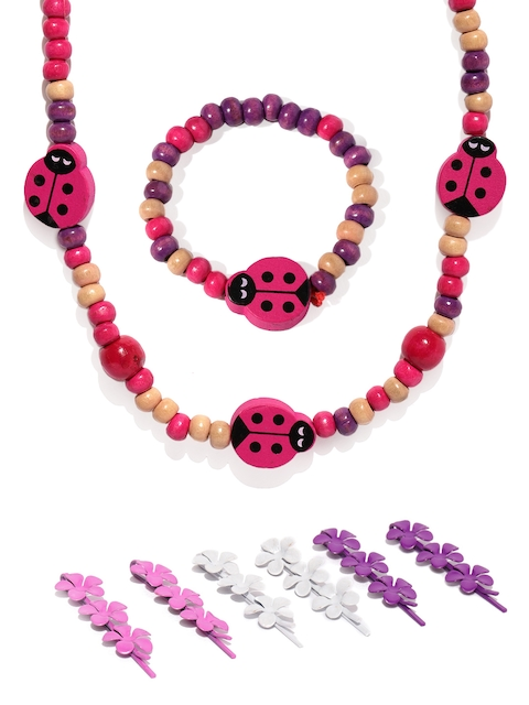 lil star Girls Multicoloured Beaded Accessory Set