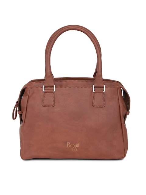 Baggit Brown Solid Handheld Bag