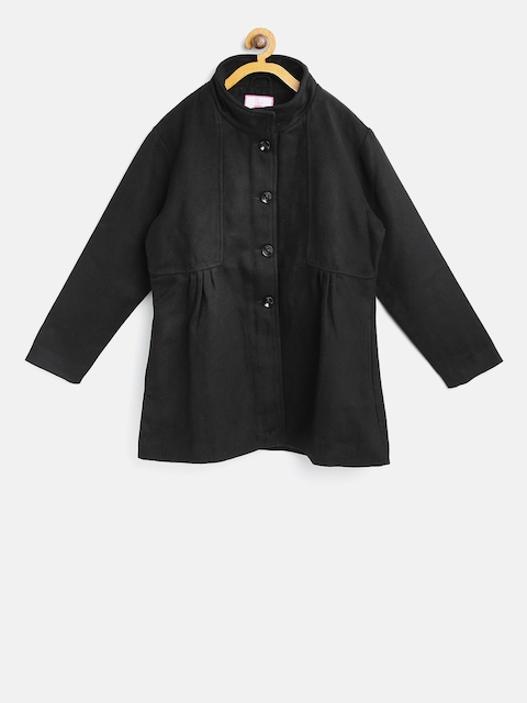 612 league Girls Black Pea Coat