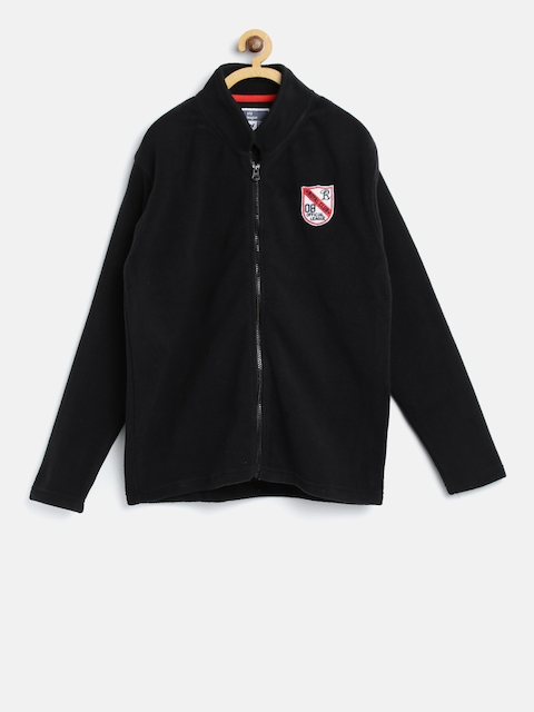 612 league Boys Black Solid Tailored Jacket