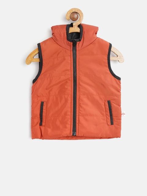 612 league Boys Rust Orange Hooded Padded Jacket