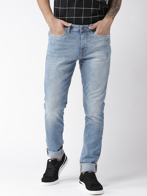 Aeropostale Men Blue Super Skinny Fit Mid-Rise Clean Look Stretchable Jeans