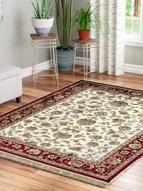 OBSESSIONS Beige & Red Bellucci Viscose Carpet