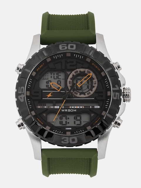 Fastrack Men Grey Analogue and Digital Watch NK38035SP01