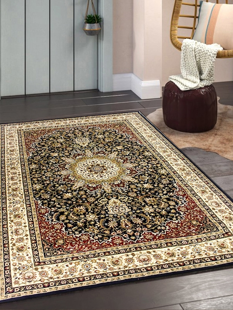OBSESSIONS Red & Cream Isfahan Polypropylene Carpet