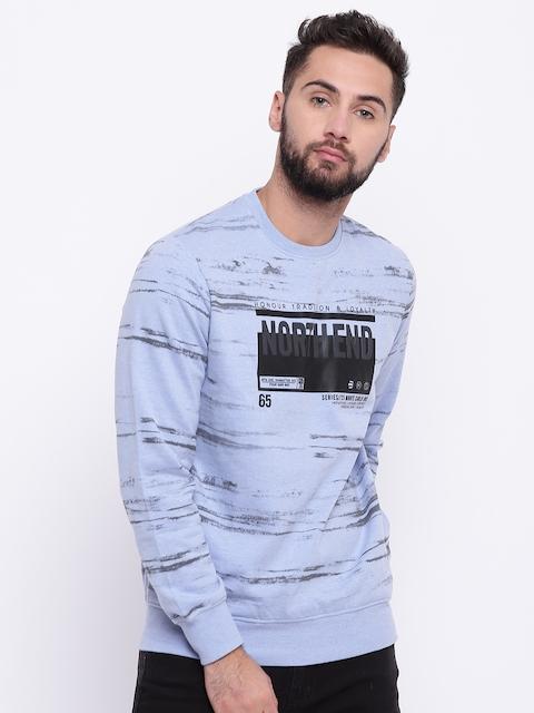 Monte Carlo Men Blue & Black Printed Sweatshirt