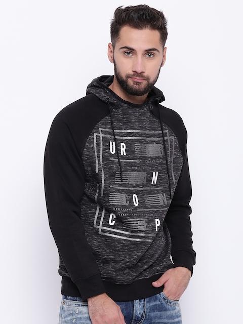 Monte Carlo Men Black Printed Hooded Sweatshirt