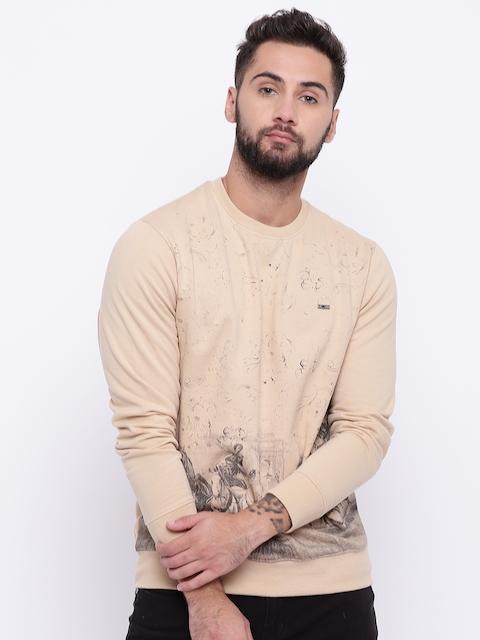 Monte Carlo Men Beige Printed Sweatshirt
