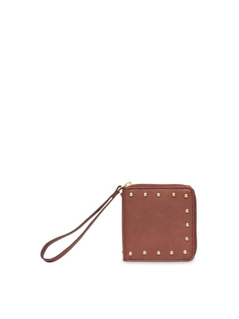 Chumbak Women Brown Solid Zip Around Wallet