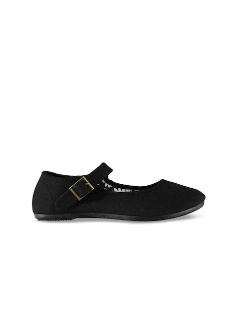 Slazenger Girls Black Flatforms