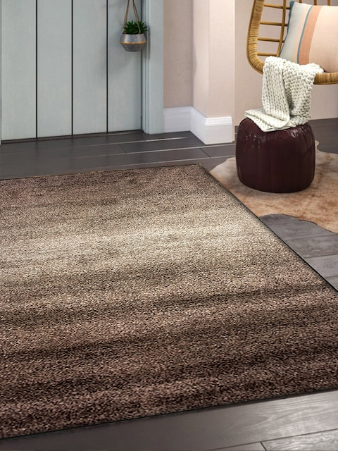 OBSESSIONS Beige & Brown Solid Carpet
