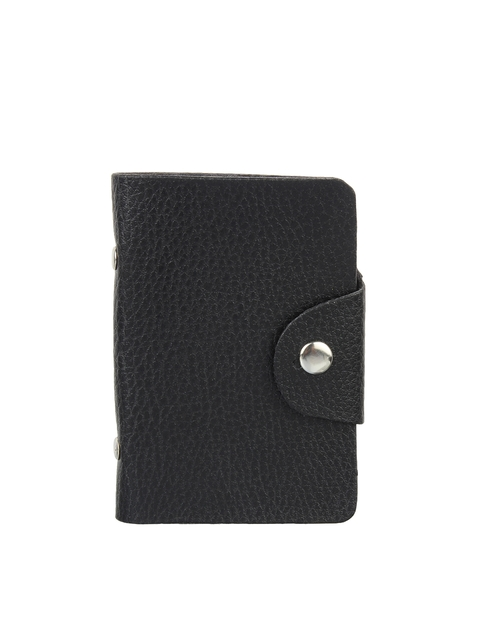 Swiss Design Men Black Textured Card Holder