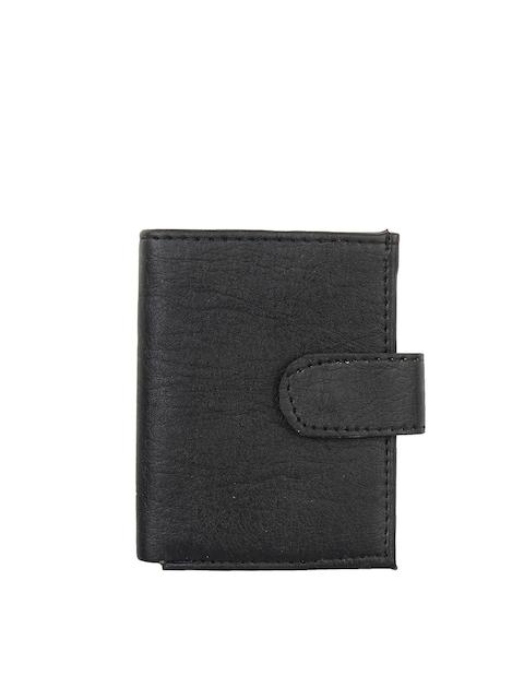Swiss Design Men Black Solid Card Holder