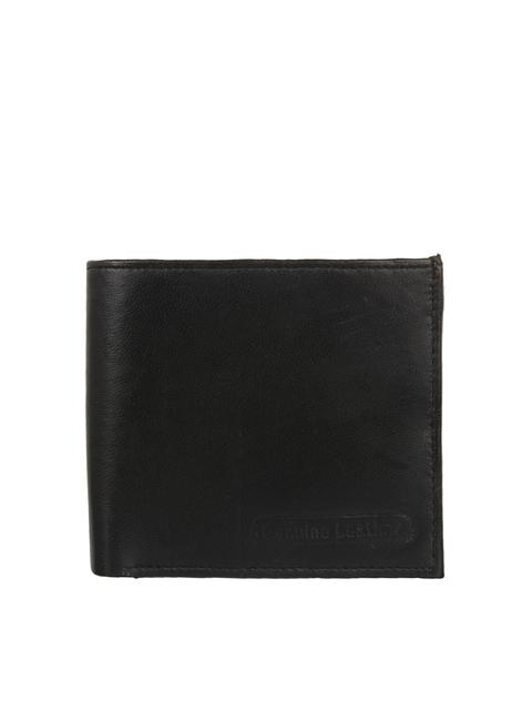 Swiss Design Men Black Solid Two Fold Wallet