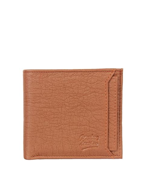 Swiss Design Men Brown Textured Two Fold Wallet