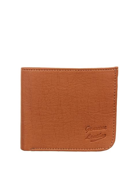 Swiss Design Men Tan Textured Two Fold Wallet