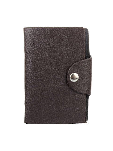 Swiss Design Men Brown Solid Card Holder