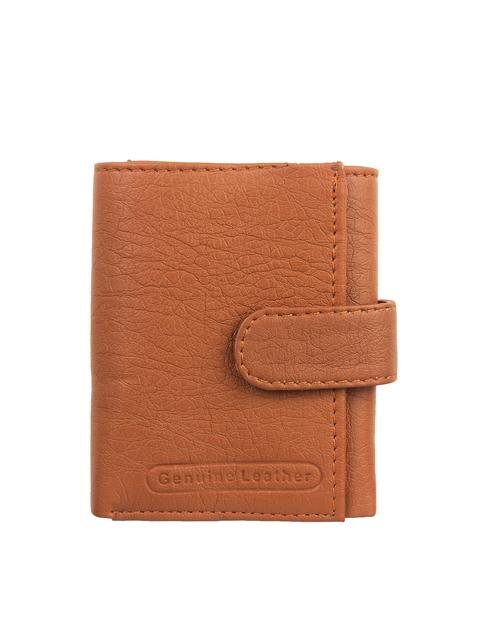 Swiss Design Men Brown Solid Three Fold Wallet