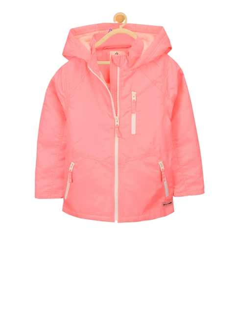 Cherry Crumble Kids Coral Solid Sporty Jacket