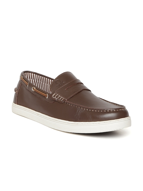 United Colors of Benetton Men Brown Leather Loafers
