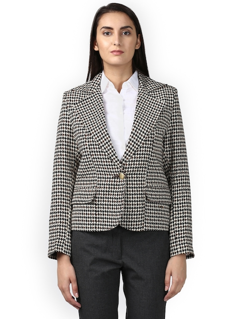 Park Avenue Printed Single-Breasted Casual Blazer